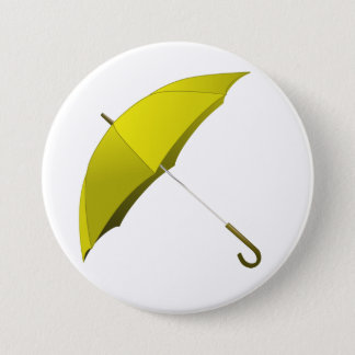 Yellow Umbrella Hong Kong Pro-Democracy Movement 7.5 Cm Round Badge