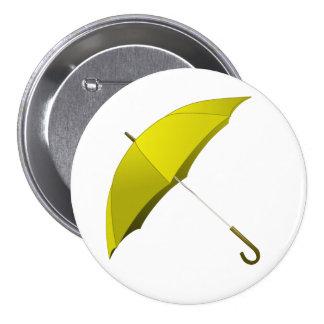 Yellow Umbrella Hong Kong Pro-Democracy Movement 7.5 Cm Round Badge