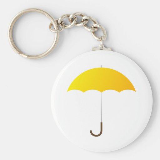 Yellow Umbrella Key Chain