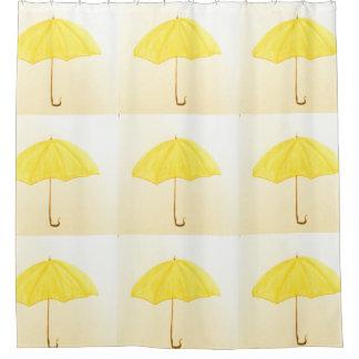 Yellow Umbrellas Shower Curtain