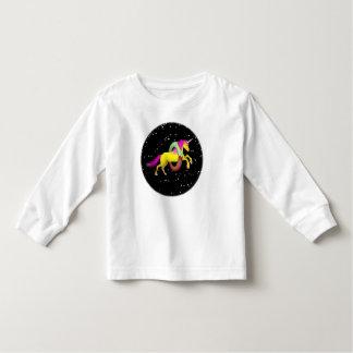 Yellow Unicorn Jumping Through a Doughnut Toddler T-Shirt