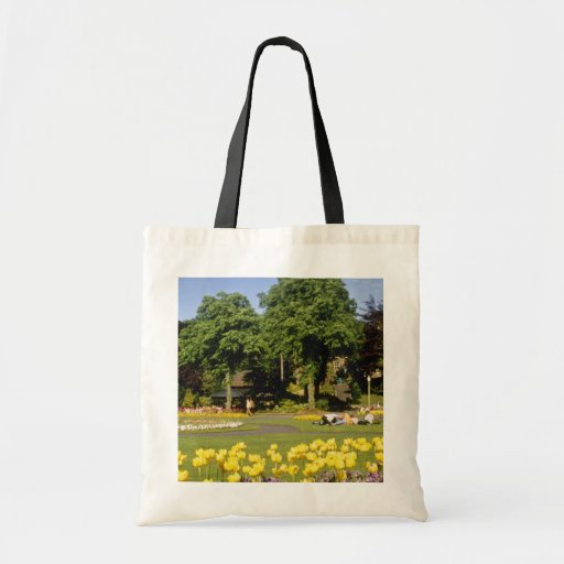 yellow Valley Gardens, Harrogate, England flowers Canvas Bag