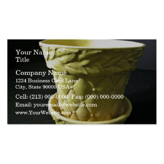 Yellow Vase Business Card Template
