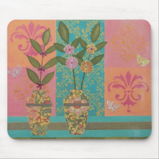 Yellow Vases Floral Mousepad