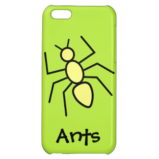 Yellow Vector Ant (Grass Green Background) iPhone 5C Covers