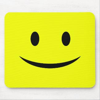 Yellow Vertical Smiley Face Mousepad