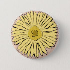 Yellow vintage abstract sunflower 6 cm round badge