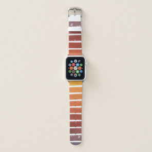 Yellow Violet Watercolor Stripe Gradient Band