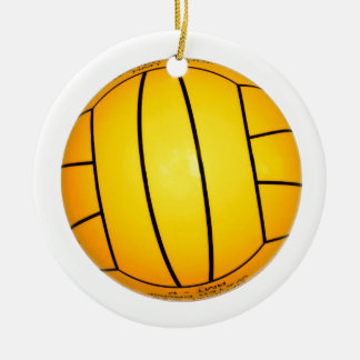 Yellow Volleyball Christmas Ornament