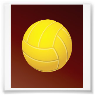 Yellow Volleyball Earthy Red Background Photo