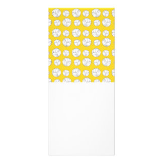 Yellow volleyballs pattern personalized rack card