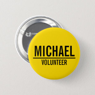 Volunteer Badges & Pins | Zazzle UK