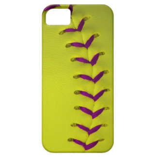 Yellow w/Purple Stitches Baseball/Softball Barely There iPhone 5 Case
