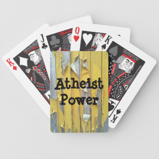 Yellow wall Atheist Power Bicycle Playing Cards