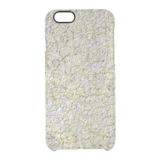 Yellow wall background clear iPhone 6/6S case