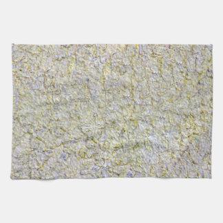 Yellow wall background tea towel