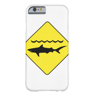 Yellow 'warning sharks' sign barely there iPhone 6 case