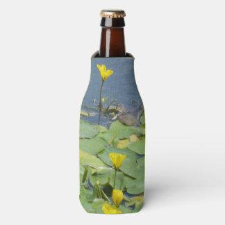 Yellow Water Lilies Bottle Cooler