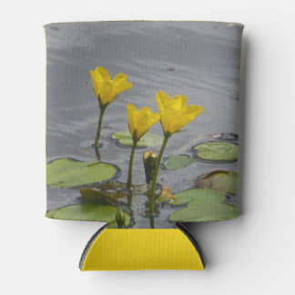 Yellow Water Lilies Can Cooler