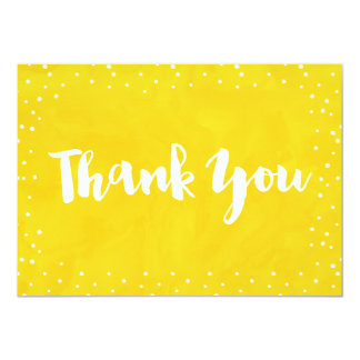 Yellow Watercolor Baby Shower | Thank You Card