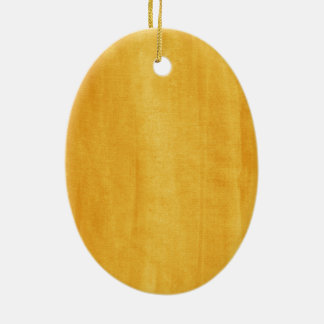 Yellow Watercolor Modern Painted Distressed Ceramic Oval Decoration