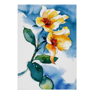 Yellow Watercolor Poster