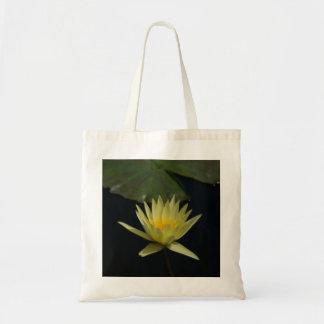 Yellow Waterlily Lotus tote bag