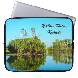 Yellow Waters Kakadu laptop sleeve