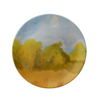 yellow way porcelain plate
