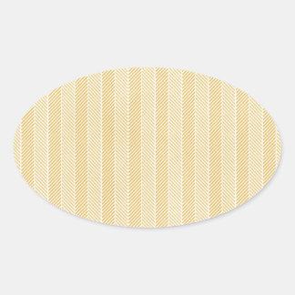 Yellow Weave Pattern Stickers