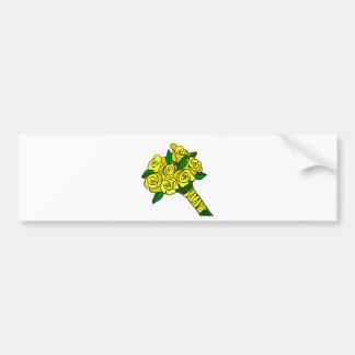 Yellow Wedding Bouquet Bumper Stickers