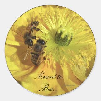 Yellow Wedding Flowers Invitation Seals Round Sticker