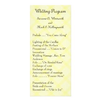 Yellow Wedding Programs, Garden Wedding, Spring Rack Card