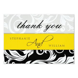 Yellow Wedding Thank You Card 9 Cm X 13 Cm Invitation Card