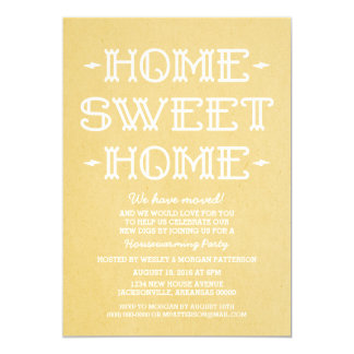 Yellow Whimsical Sweet Home Housewarming Party 13 Cm X 18 Cm Invitation Card