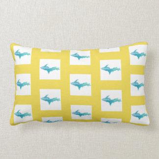 Yellow White Aqua Michigan U.P. Pillow