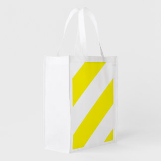 Yellow White Attention Stripes