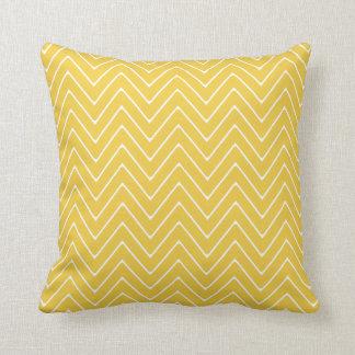 Yellow White Chevron Pattern 2A Cushions