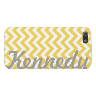 Yellow White Chevron Pattern iPhone 5 Cases