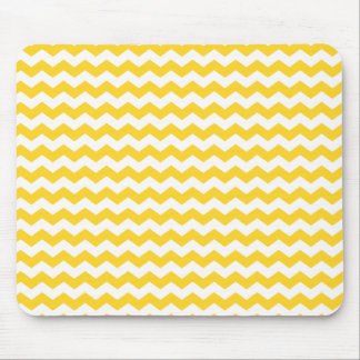yellow  white chevrons mouse pad