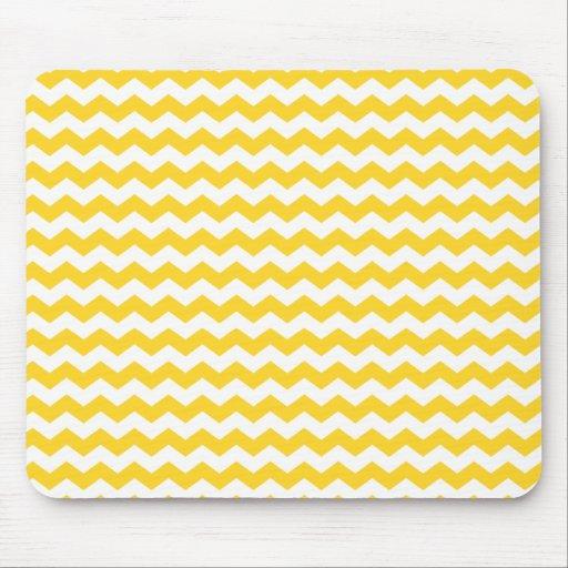 yellow  white chevrons mousepad