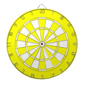 Yellow White colored Dartboard