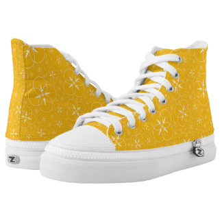 Yellow White Crop Circle High Tops