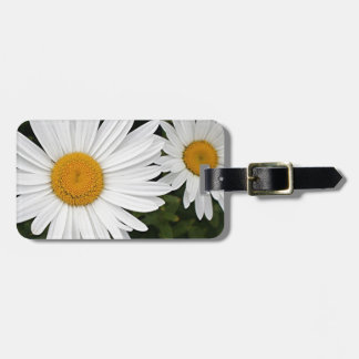 Yellow & white Daisies: flowers in bloom Luggage Tag