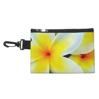 Yellow White Flowers Accessories Bag