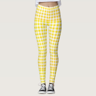 yellow - white leggings