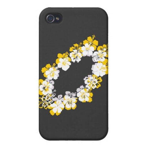 yellow white leis iPhone 4 cases
