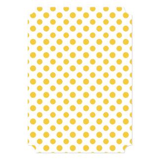 Yellow White Polka Dots Pattern 13 Cm X 18 Cm Invitation Card