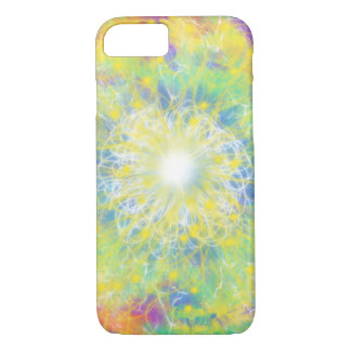 Yellow & White Star Aqua Blue Abstract Art Design iPhone 8/7 Case
