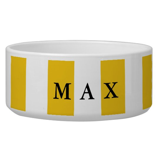 Yellow & White Stripes Modern Chic Pet Dog